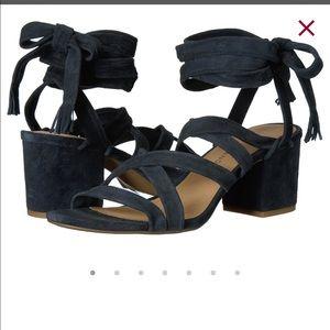Lucky Brand Idalina Black Lace Up Sandals